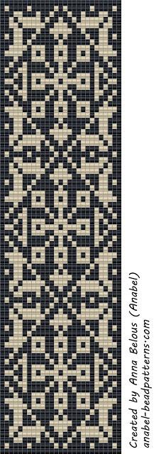 loom beading - bracelet pattern