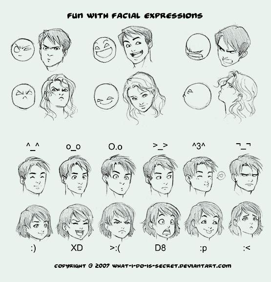 Dibujos de Expresiones Faciales