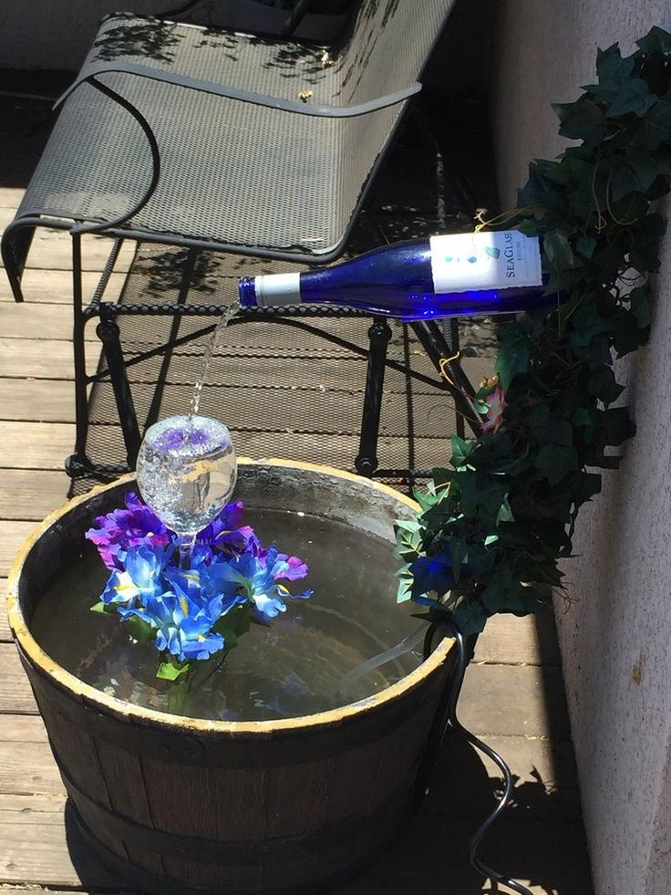 ❤️Research then scroll down, tons of cute ideas & fairy gardens. ❤️ How To Make A Wine Bottle Fountain