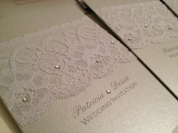 Elegant lace invite