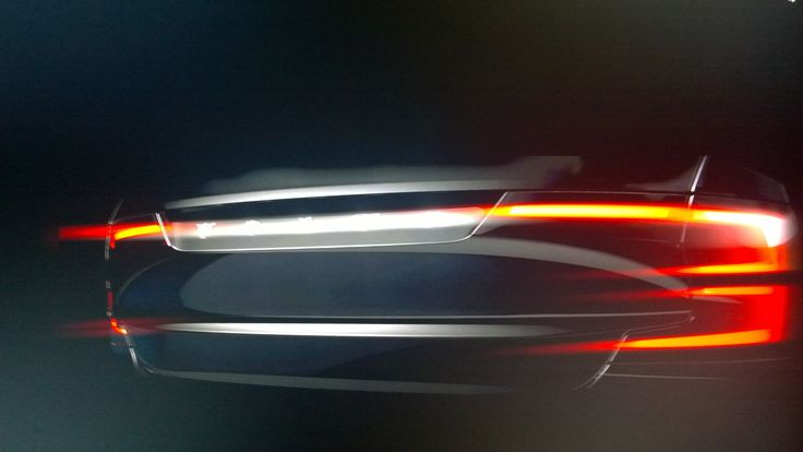 The New VOLVO S90 Tail lights design sketch
