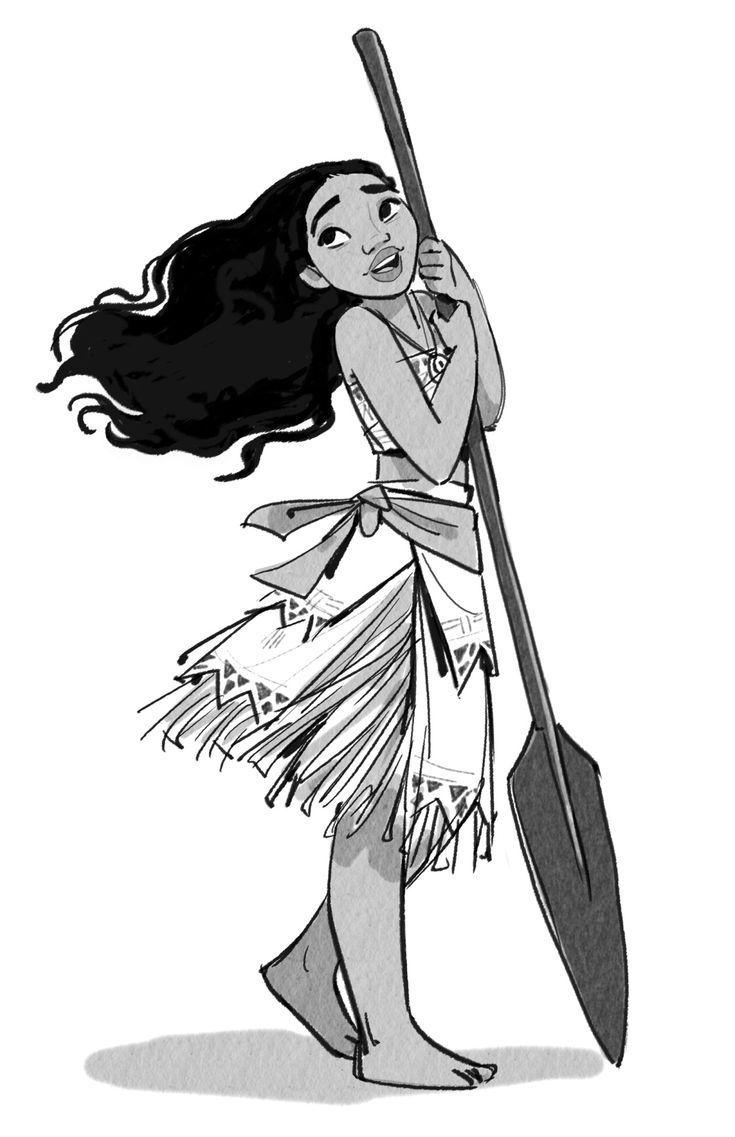 Character Designs de Jin Kim para o filme Moana | THECAB - The Concept Art Blog