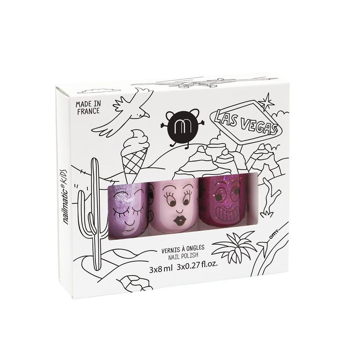 Nailmatic Kids Nail Polish Set of 3- Vegas