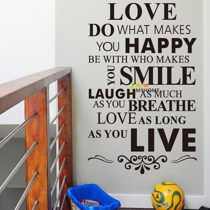 Правила семейные Наклейки На Стены Котировки Большего Размера Съемные Виниловые Наклейки для Гостиной Спальня Home Decor
