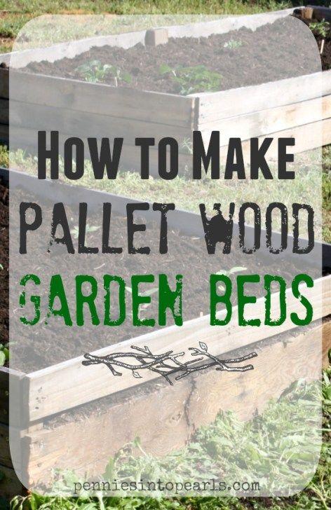 Diy Pallet Wood Raised Garden Beds Gardens Planters And Raised Garden Beds