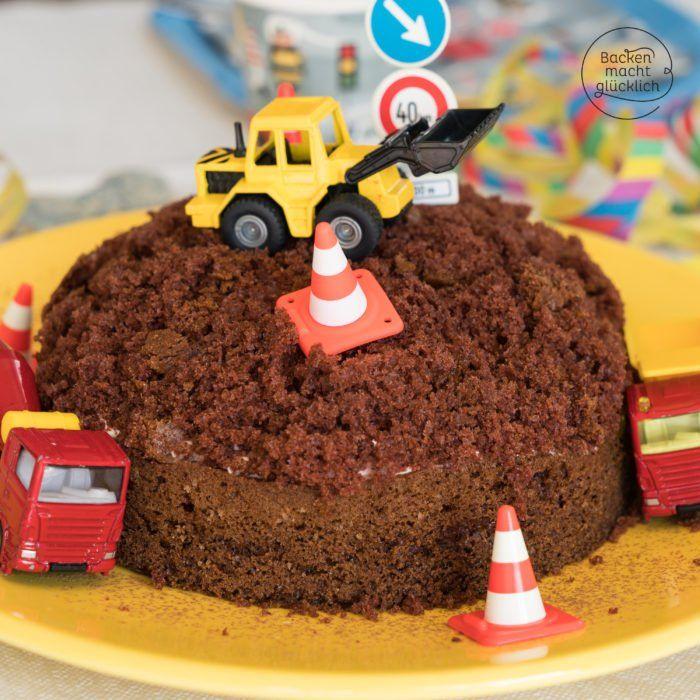 Einfacher Baustellen Kuchen Baggertorte Backen Macht Glucklich Rezept Bagger Torte Kuchen Bagger Kuchen