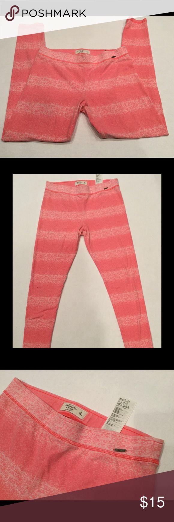 Abercrombie and Fitch Leggings Abercrombie and Fitch Leggings. Bundle listed for less ❤️📦 pen mark 4th photo📸 materials listen, very comfortable, worn twice. So cute 💕 Pants Leggings