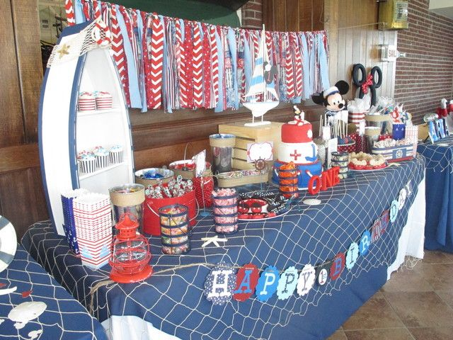 Mickey & Minnie Nautical Birthday Party Ideas | Photo 1 of 29 | Catch My Party