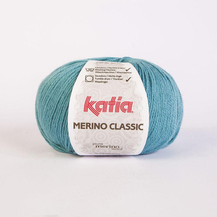 Ovillo Merino Classic color Turquesa de lanas Katia