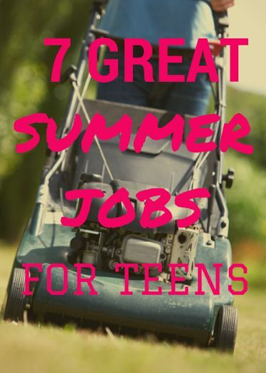 7 Great Summer Jobs for Teens -- is your teen thinking about getting a job over the summer? Here are 7 great ideas to get them started and the costs associated with each!