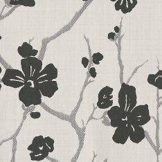 Фото №1: Обои с цветочным узором 3300041 Corcelle blanc et noir – Ампир Декор