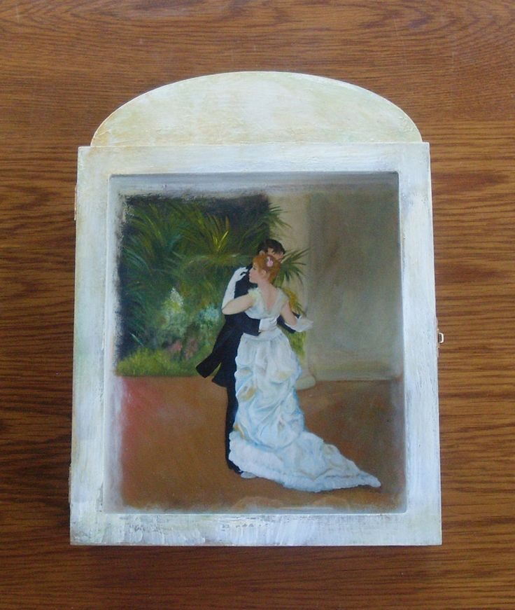 Wedding Crown Display Box - Stefanothiki - Dancing Couple by allabouthandicraft on Etsy