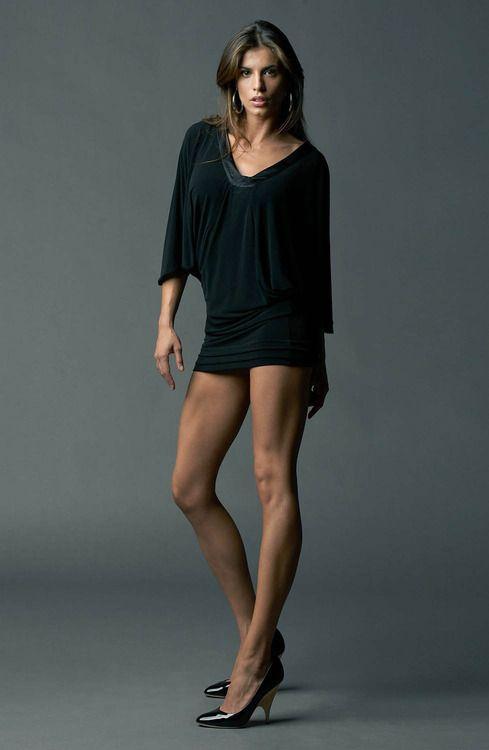 Elisabetta Canalis super legs in super short lbd