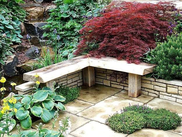 Không gian thư giản trong sân vườn biệt thự Thiết kế sân vườn - steingarten anlegen mit vlies