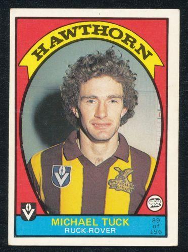 1978 Scanlens Michael Tuck Hawthorn card 89 Premiership Year