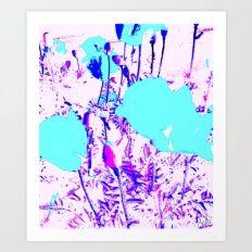 PSYNAT - Turple poppy Art Print
