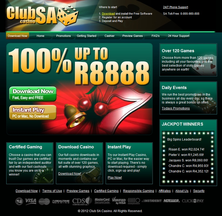 R200 No deposit bonus at Club SA only through my review => http://chemchemi.org/south-african-online-casinos/club-sa-online-casino/