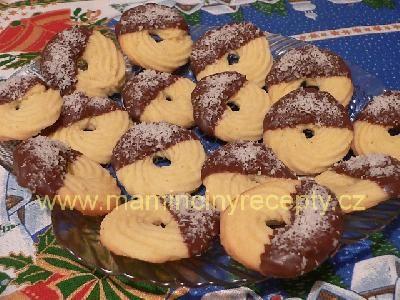 Stříkané kokosové věnečky
