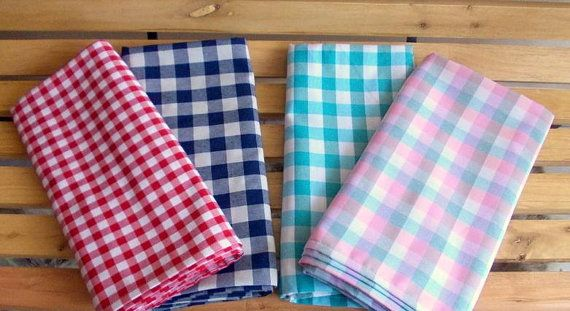 FREE SHIPPING- Karo Tablecloths, Gingham Tablecloths, Chequered Tablecloths, Check Table Covers, Christmas Tablecloth, Plaid Table Covers