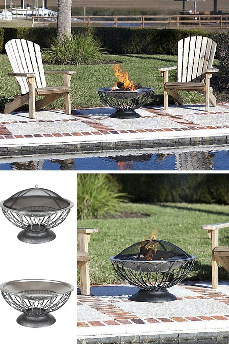 Fire Sense Stainless Steel Urn Fire Pit   Wood Burning (#02119)