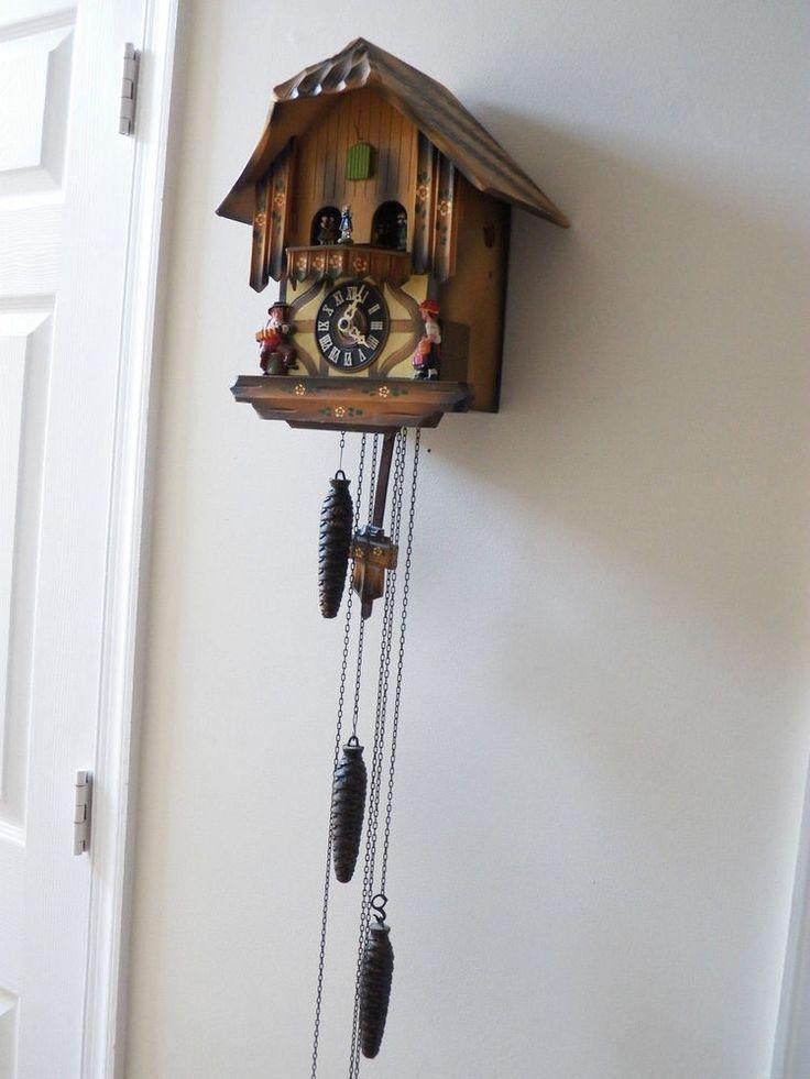 E Schmeckenbecher Germany Cuckoo Wall Hanging Clock