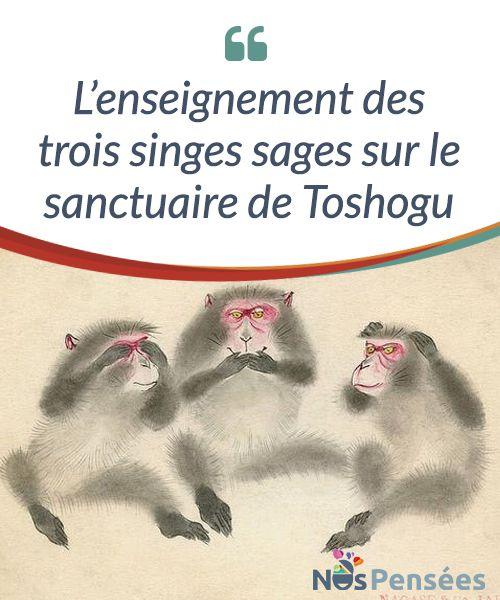 L'enseignement des trois singes sages sur le sanctuaire de Toshogu  #L'enseignement que nous offre la sculpture en bois de trois singes sages du #sanctuaire de Toshogu continue à nous inspirer #aujourd'hui. Son message original est aussi simple que clair : « N'écoute pas ce qui te mène à de mauvaises actions. », « Ne regarde pas les mauvaises actions comme quelque chose de naturel » et « Ne parle pas mal sans fondement ».  #Psychologie