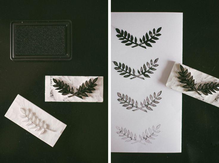 DIY handmade stamps in rubber. Handcarved rubber stamps. BLOMSTRANDE | DIY 3 tekniker att göra egna stämplar | http://blomstrande.com