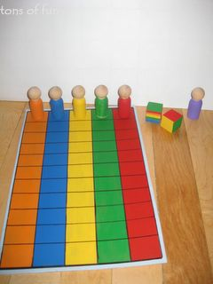 Peg People Race - Kids could practice spelling words by moving a peg for each word they spell correctly.  First to get to the end wins.Cute centers activity!