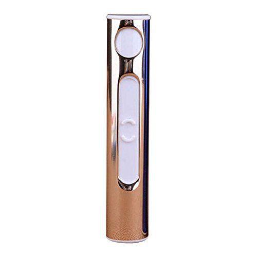 【Black Friday Promotion】YIJIA Briquet Coupe USB Cylindrique Cigarette Electronique Rechargeable Briquet Coupe-vent Léger Or: Cet article…