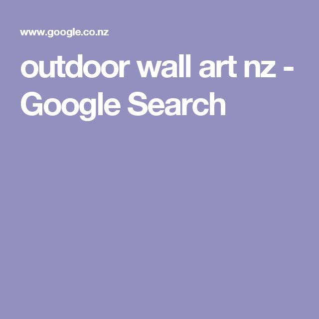 outdoor wall art nz - Google Search