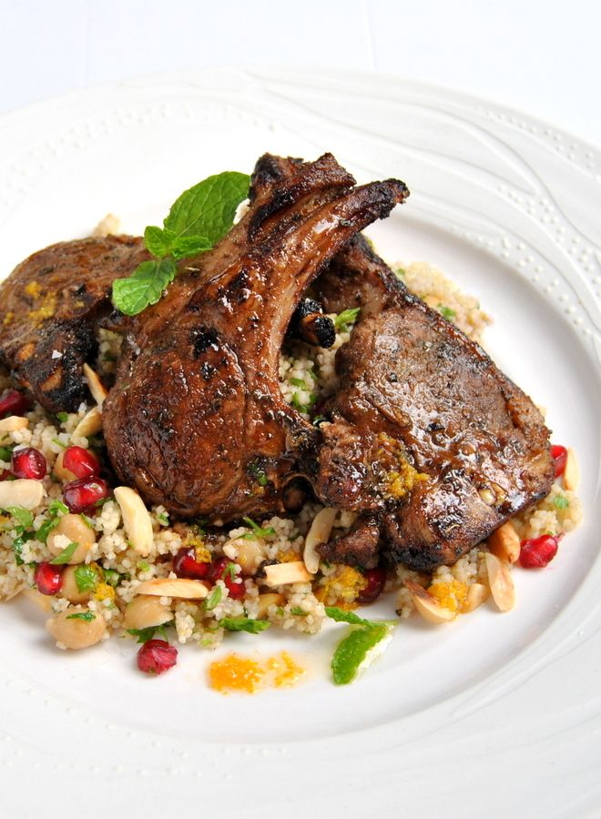 Moroccan-Spiced Lamb Chops with Citrus Couscous Salad | Scrumptious South Africa