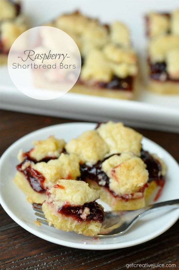 Raspberry Shortbread Bars {RECIPE}