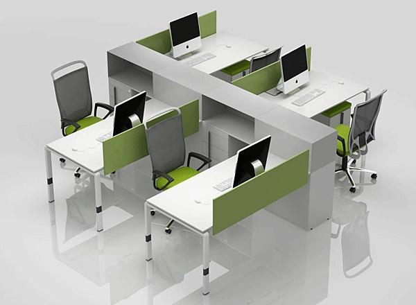 Enran - рабочие станции - рабочая зона для 4х человек