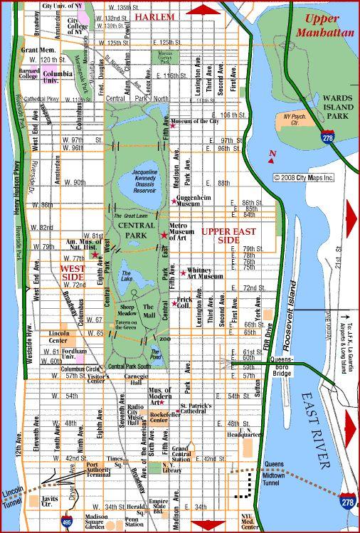 Best Manhattan Map Ideas On Pinterest Map Of Manhattan New - Road map new york