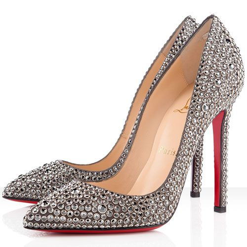 Christian Louboutin,Red Sole,  http://www.redsolesale.com/christian-louboutin-pigalle-120mm-strass-pointed-toe-pumps-hematite-p-39.html