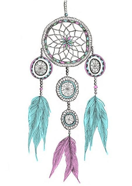 dreamcatcher color inspiration... I've always wanted one of these!