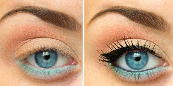 макияж для голубых глаз фото пошагово