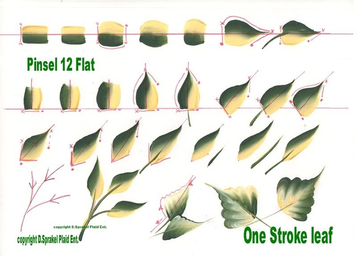 1000 Images About One Stroke Painting On Pinterest Flower Brushes And Round Brush