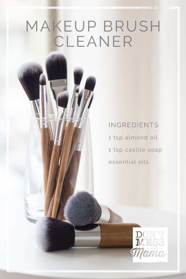 DIY Makeup Brush Cleaner - use this simple method to clean makeup brushes naturally - DontMesswithMama.com