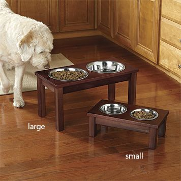Our Solid Wood Raised Feeder Places Your Dog S Food And