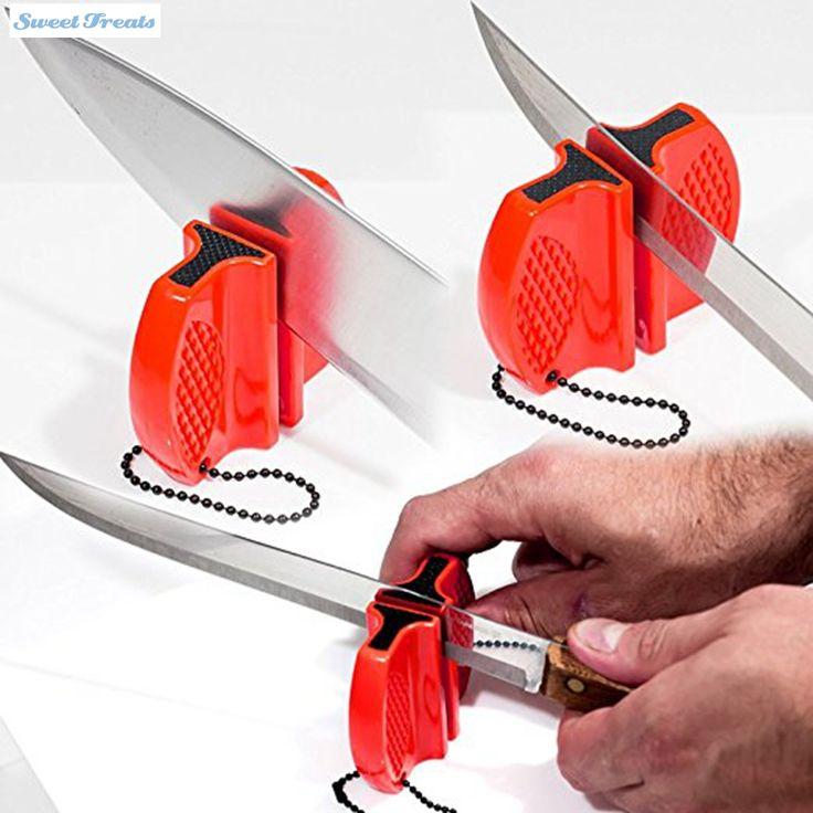 Sweettreats Steel Knife Sharpener Stone For Knives Tungsten Steel Camp Professional Kitchen Knife Sharpener System  Sharpening