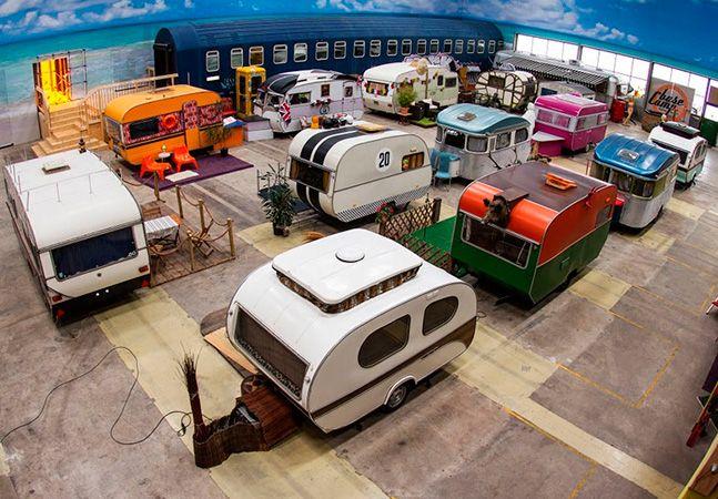 Conheça o hostel feito com trailers vintage na Alemanha