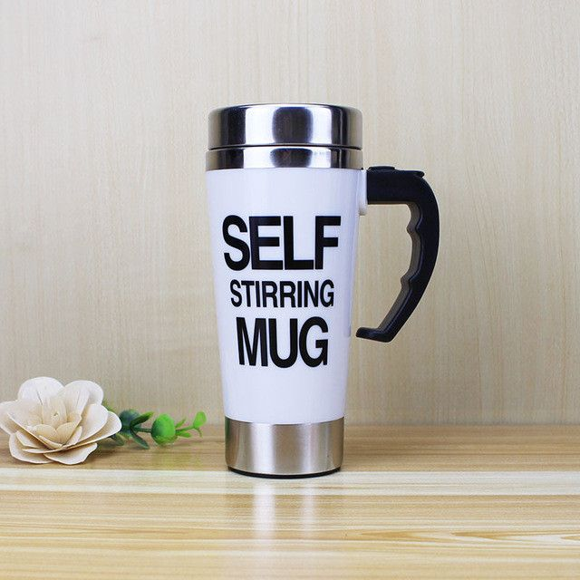 500ml Self Stirring Stainless Steel Double Insulated Mug