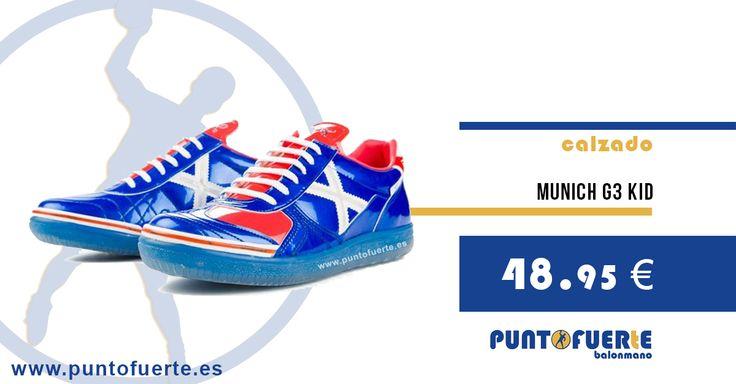 Zapatillas Munich G3 Kid: http://www.puntofuerte.es/es/zapatillas-indoor/967-zapatillas-balonmano-g3-kid.html#/talla_calzado-35 Calzado de buena calidad para niños. Suela resistente con refuerzo en puntera. Tallas disponibles: 33, 35 y 36. Hazte con ella por un módico precio: 48.95€ #zapatillas #kid #handball #trainers #balonmano #Munich Más información: www.puntofuerte.es