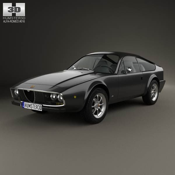 Alfa Romeo GT 1600 Junior Zagato 1972 3d model from humster3d.com. Price: $75