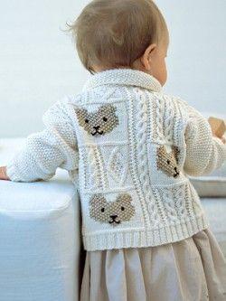 Cable and Teddybear Jacket   Knitting Fever Yarns & Euro Yarns