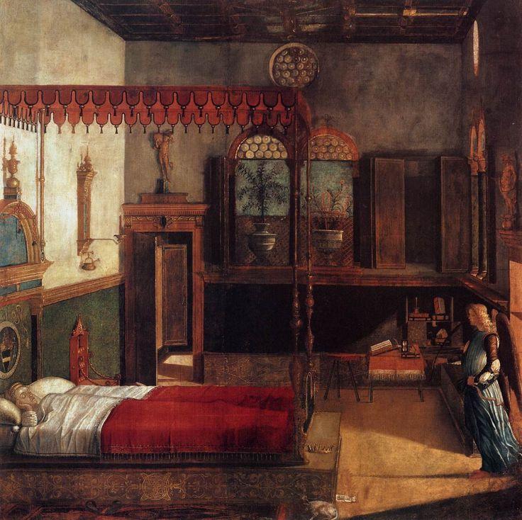 Vittore Carpaccio (Italian 1465–1525/1526) [Renaissance, Venetian School] The Dream of St. Ursula, 1495. Tempera on canvas, 274 x 267 cm Gallerie dell'Accademia, Venice.