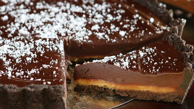 Delectable Chocolate-Desserts-That Taste Like Happiness: With its rich luscious texture and succulent flavors, these chocolate pies are a dessert no one will pass up. Get more of our best pie recipes!