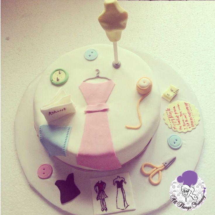 Do what you love, love what you do!! #fashiondesigner #themecake  #dress #hanger #measuringtape #scissors #sketch #buttons #thread #portfolio #dummy #mannequin #customisedcake #fashiondesignerthemecake #cloth #clothes #designer #atyummy #cake #chocolatetruffle