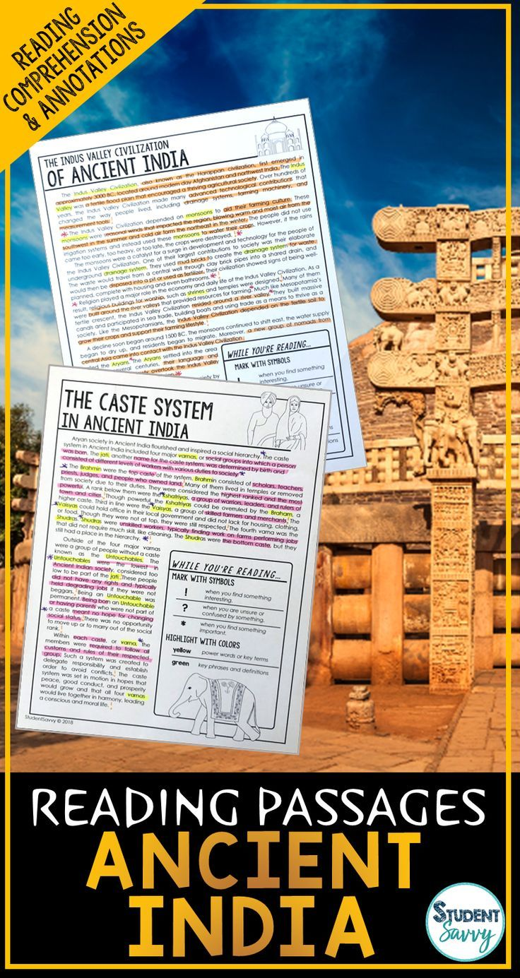 Ancient India Reading Passages - Questions - Annotations | Ancient